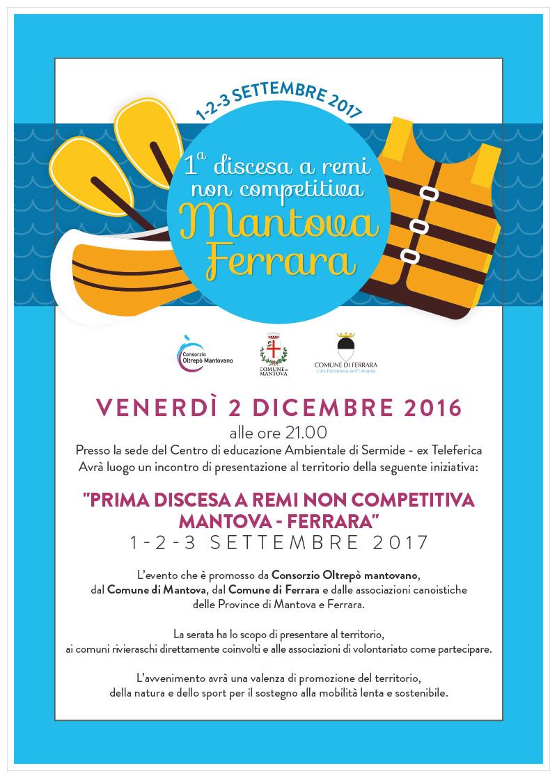 Prima discesa a remi non competitiva Mantova - Ferrara   Presentazione