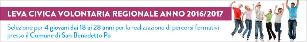 Leva Civica Volontaria Regionale Anno 2016/2017