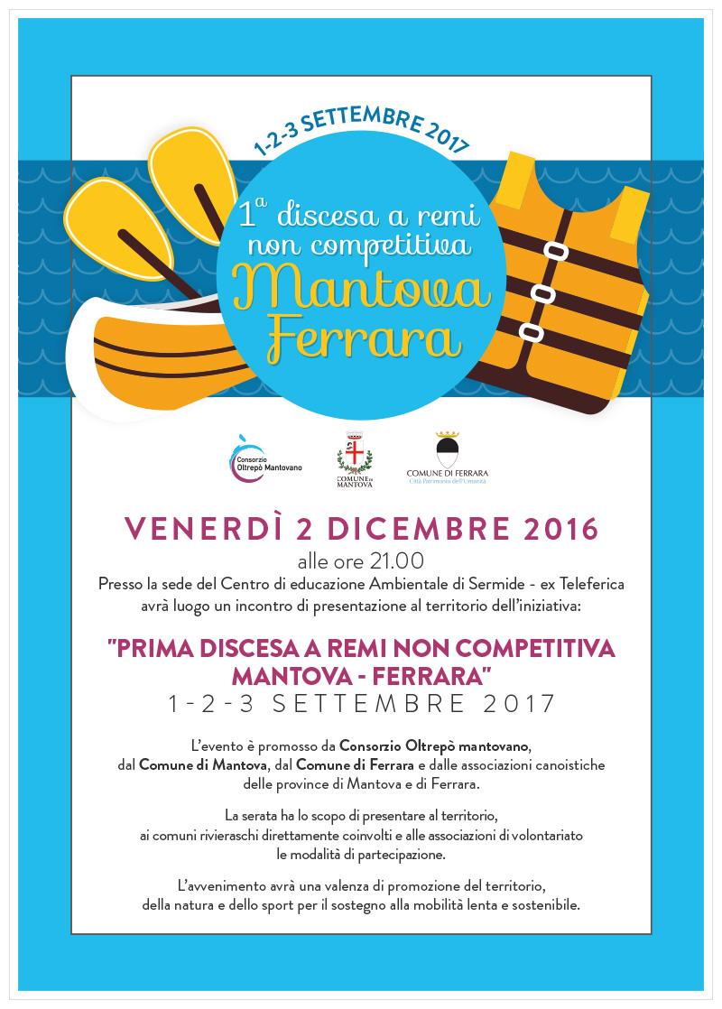 Prima discesa a remi non competitiva Mantova - Ferrara | Presentazione