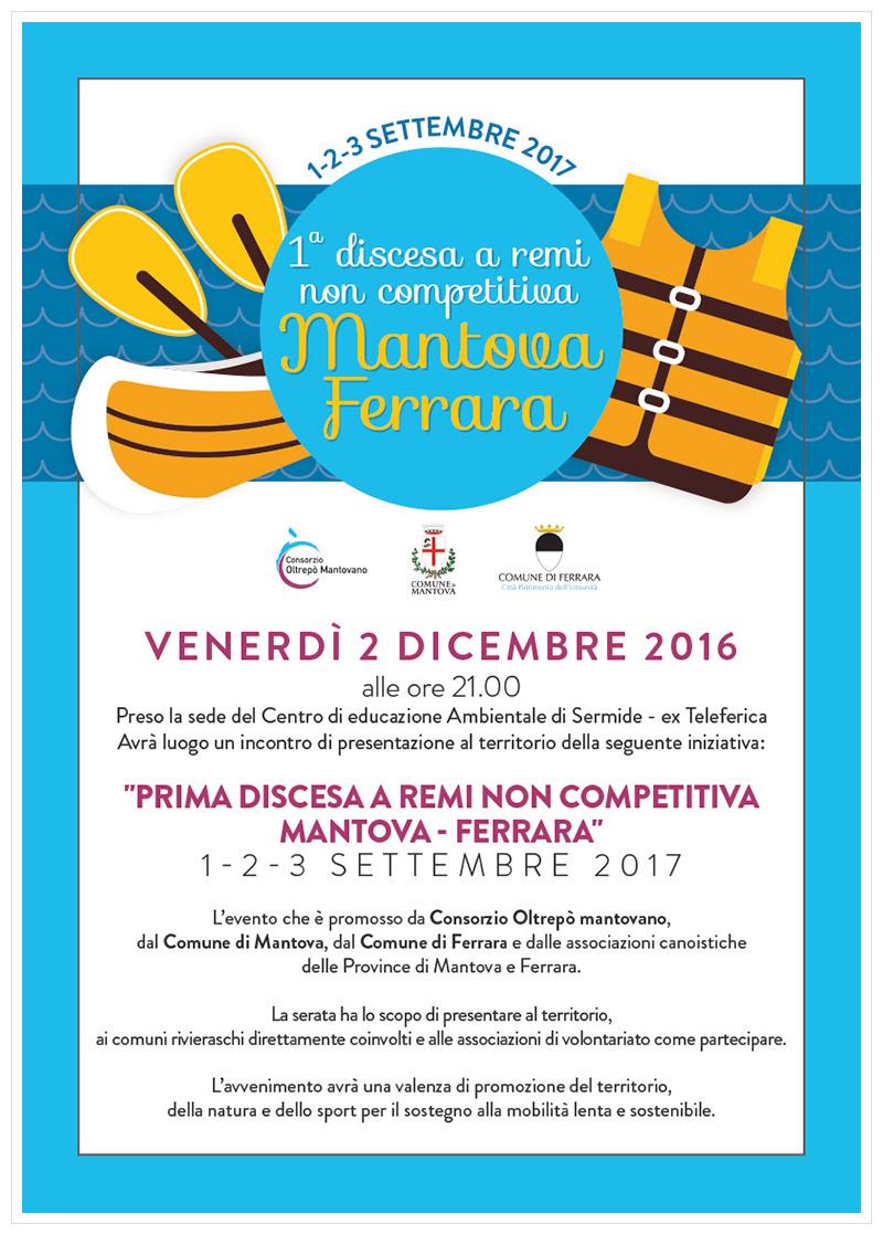Prima discesa a remi non competitiva Mantova - Ferrara