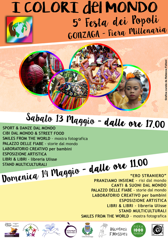 I colori del Mondo - Festa dei popoli sabato 13 e domenica 14 maggio a Gonzaga