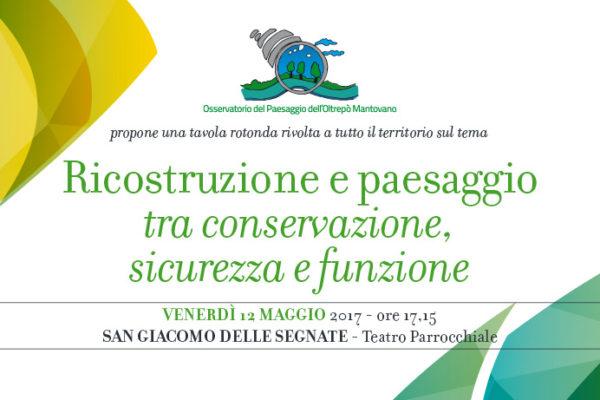 Ricostruzione e paesaggio tra conservazione, sicurezza e funzione