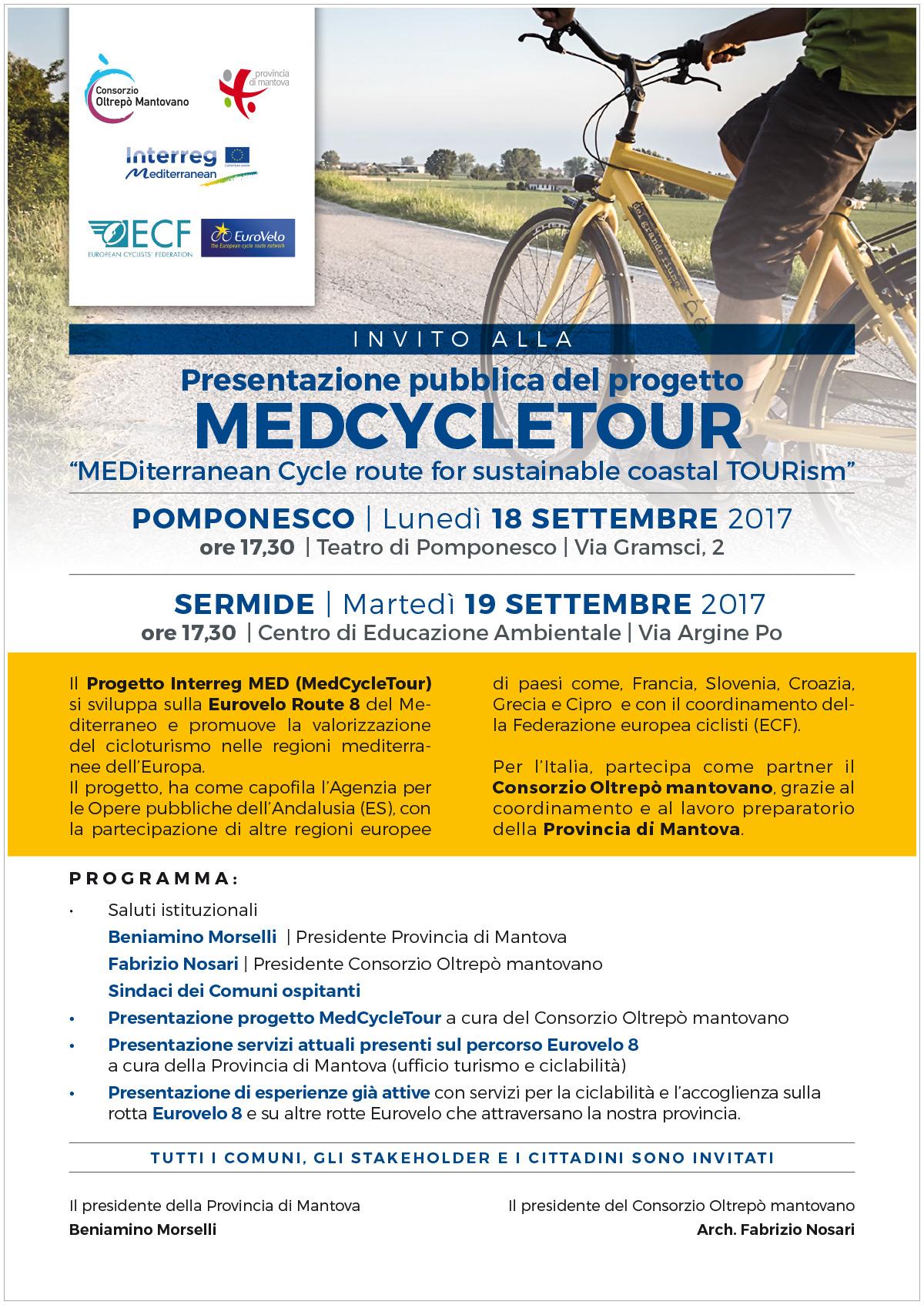 Presentazione del progetto MedCycleTour