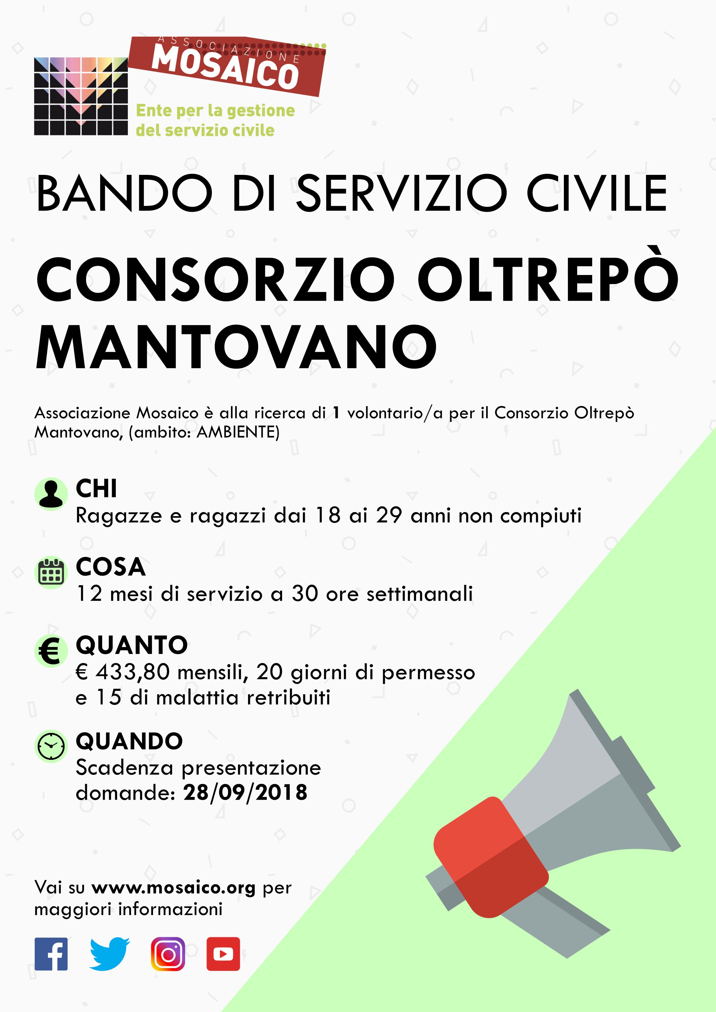 Il Servizio Civile arriva al Consorzio Oltrepò Mantovano