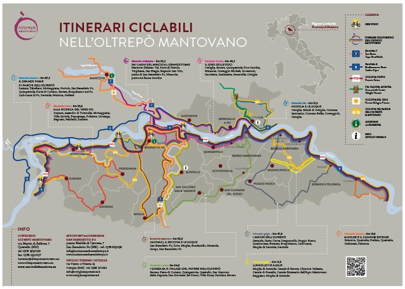 Itinerari ciclabili nell'Oltrepò mantovano