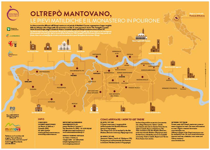OLTREPÒ MANTOVANO,LE PIEVI MATILDICHE E IL MONASTERO IN POLIRONE